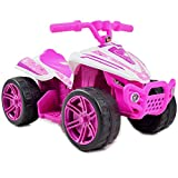 fit4form Quad ATV Kinderquad Pink Star 6V Elektroquad rosa für Kinder Kinderfahrzeug elektrisch