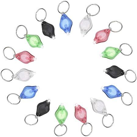 Jowbeam 15 Packs Mini Keychain Mini LED Flashlight Key Ring Light Torch Light Lamp, Dog Light, Dog Collar Light, White Beam