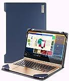 Broonel - Serie de perfiles - Estuche para De Cuero Azul Compatible con La Lenovo Yoga 920-13IKB