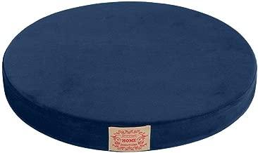 Shinnwa Polyester Supper Soft Cushion Round MemoryFoam Seat Cushion Short Plush LumbarSupportPillow Home Office Chair Pad Blue 16