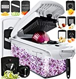 Best functionality on the market - everything you need in this multifunctional all in one kitchen gadget. 11 easy to change inserts including two different sized chopper blades, two spiralizer inserts giving you the option of broad ribbons or thin sp...