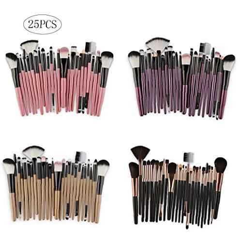 25pcs Set Maquillage Durable Brosses Kit Maquillage Durable Cheveux Synthétiques Brosses Fard À Paupières De Teint En Poudre Brosses Outils Multifonctions Beauté