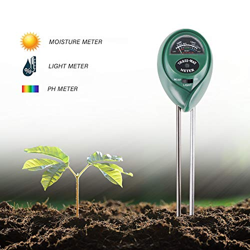 Best Price IIET Soil Test Kit, 3-in-1 Soil Moisture/Light/pH Tester for Home and Garden, Lawn, Farm, Plants, Herbs & Gardening Tools, Indoor/Outdoors