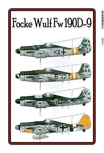 Focke Wulf Fw 190 D 9 Flugzeug 2. Weltkrieg Blechschild Schild Blech Metall Metal Tin Sign 20 x 30 cm F0234