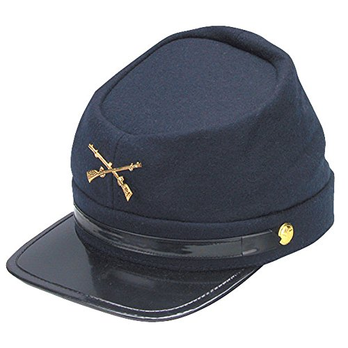 Forum Novelties Civil War Kepi Union Army Wool Hat Blue Lined US North (Hats size 57 cm)