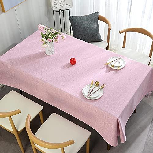 XXDD Mantel de Lino de algodón de Color sólido Cubierta de Mesa de Comedor Mantel Decorativo manteles rectangulares Cubierta de Mesa de Comedor A2 140x200cm