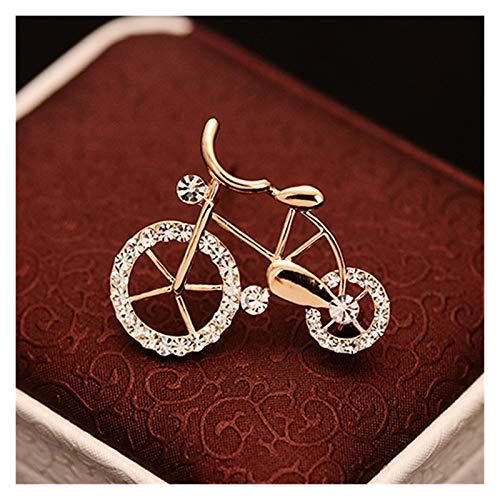 ZHEMAIE Brooch 1PCS Elegance Bike Shape Men Women Unisex Twinkle Brooch Pins Gift