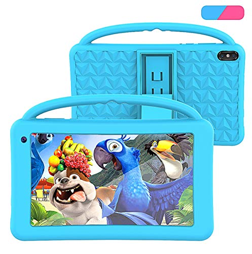 Tablet para Niños Regalo Pantalla IPS De 7 Pulgadas Quad-Core Android 10.0 2GB Ram 32GB ROM Google Play Preinstalado con Estuche A Prueba De Azul GMS Certificado Regalo Juguete para Niños (Azul)
