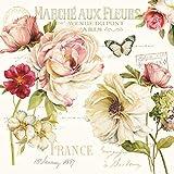 Easy Life 414FLEU Marche AUX Fleurs SERVIETTES EN PAPIER 33X33CM, Multicouleur