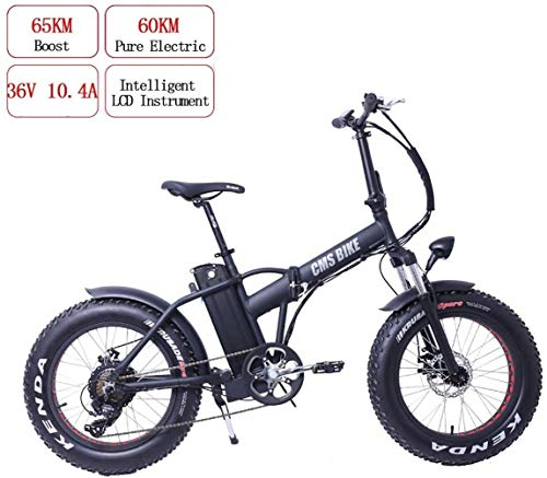 PARTAS Sightseeing/Commuting Tool - 20-Inch Variable-Speed Folding Electric Car Snowmobile Beach Mountain Electric Bike with Removable Lithium Battery (36V 10AH) and LCD Screen, Maximum Speed 30Km/H