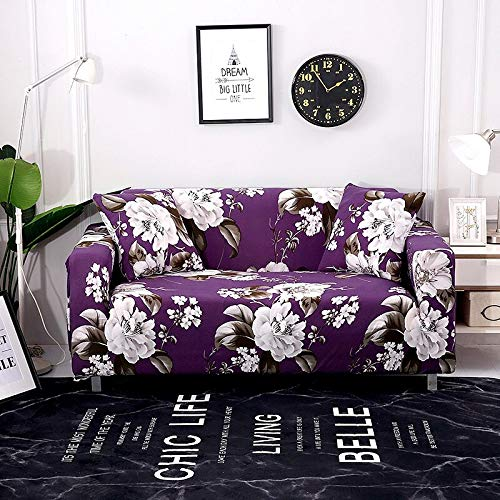 WXQY Funda de sofá Funda elástica para sofá, Utilizada para la Funda de sofá elástica de la Sala de Estar, Funda de sofá Modular en Forma de L, Funda Protectora de Silla A9 2 plazas
