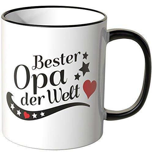 Wandkings® Tasse, Spruch: Bester Opa der Welt - SCHWARZ