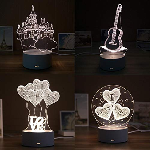 Tiowea New Home Bars nachtlampje, tafel, bedlampje, LED, 3D, creatief geschenk, nachtlampje Mittel ballon