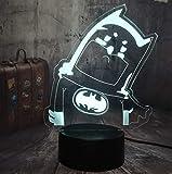 Muñeca linda de dibujos animados 3D LED luz de noche 7 colores lámpara de mesa cambiante regalo de Navidad para niños decoración del hogar regalo para niños decoración de regalo de cumpleaños