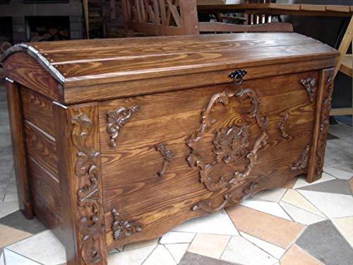 DECOCRAFT Coffre en bois vintage ottoman (JUL1)