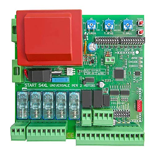 Central universal para puertas automáticas batientes de 1 o 2 puertas Came BFT Nice ECC. Centralita de control de automatización deslizantes con puertas batientes.