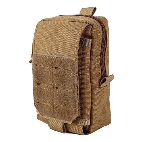 De múltiples fines 1000D 7 'Bolso táctico de la bolsa de la bolsa de Molle Molle Bolsa de cintura militar de la cintura al aire libre Paquete de la caja del teléfono Mochila de la mochila del bolsillo