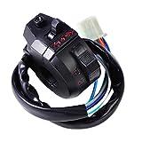 22mm 7/8' Mando de luces universal para motocicleta, interruptor encendido/apagado, intermitente y claxon
