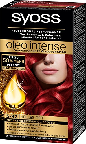 Syoss Oleo Intense Coloration 5-92 Helles Rot, 3er Pack (3 x 115 ml)