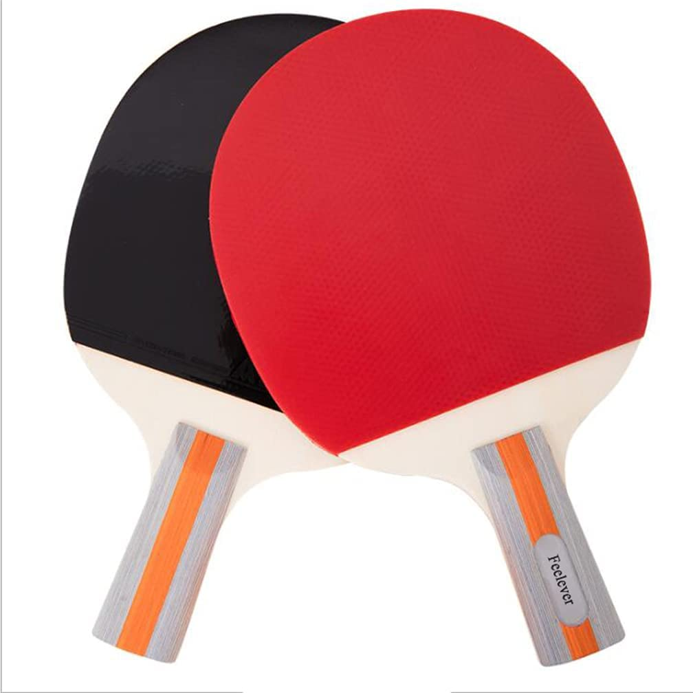 Feelever Table Tennis Rackets NEW before selling OFFer ☆ with a Double-Sided Reverse Tape