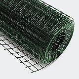 Rete metallica quadrata acciaio zincato 12x12mm 50cmx25m verde Rete per voliere recinti