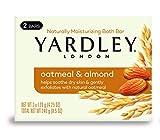 Yardley London Avena y almendras naturalmente hidratante, barra de baño, 4.5 onzas, 2 unidades