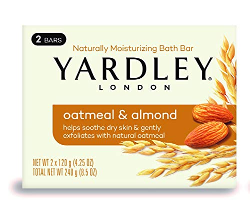 Yardley London Oatmeal and Almond Naturally Moisturizing Bath Bar, 4.25 oz., 2 Count
