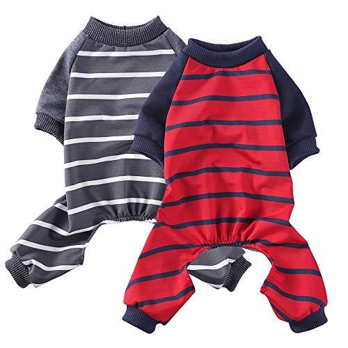 Oncpcare - Pijama para perros pequeños, para interiores y interiores, para perros y gatos, 2...