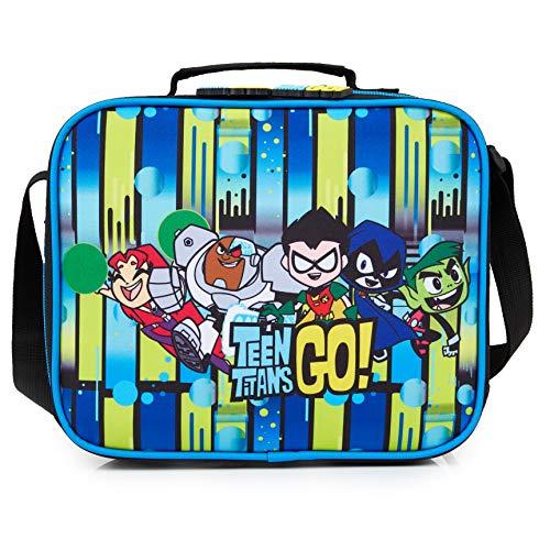 Teen Titans Go! Borsa Termica Porta Pranzo per Bambini con Robin, Cyborg, Corvina E Stella Rubia, Porta Merenda E Snack per Scuola e Asilo, Lunch Box Ufficiale Teen Titans, Idea Regalo Bimbi