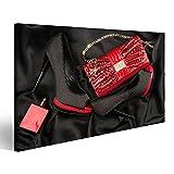 islandburner Bild Bilder auf Leinwand Rote Tasche, Schuhe