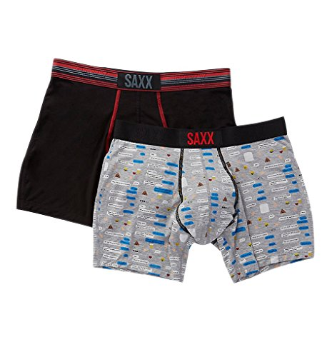 Saxx Vibe Boxer Brief 2 Pack - Text Bubble Medium