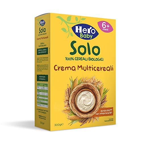 HERO SOLO Crema Multicereali BIO, Cartone da 6 Confezioni x 300gr