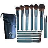 14 Piezas Pincel de Maquillaje Profesional Cara Sombra de Ojos Eyeliner Foundation Blush Pinceles de Maquillaje Cosméticos Mezcla Herramienta de Pincel con Cepillo-Azul