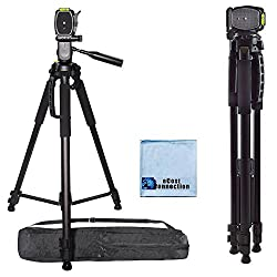 72 Inch Elite Series Professional, Full Size Camera Tripod for Canon, Nikon, Sony, Samsung, Olympus, Panasonic & Pentax + eCost Microfiber Cloth