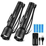 Brightest LED Flashlights Rechargeable, Waterproof 1500 High Lumen Tactical Flashlight with 5 Light