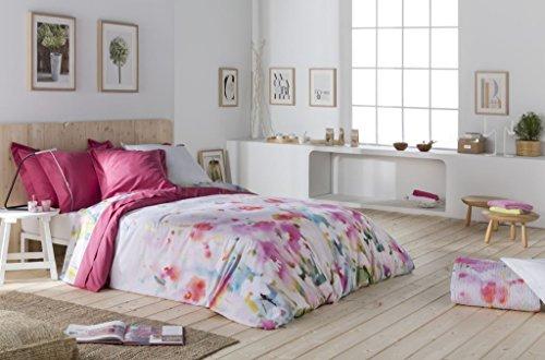 Naf Naf Shira Bettwäsche-Set für King-Size-Bett, mit Zwei Passenden Kissenbezügen, Fuchsia/Pink