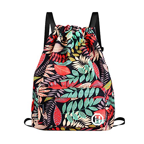 Prairie Flowers Drawstring Backpack Sports Athletic Gym Cinch Sack String Storage Bags for Hiking Travel Beach