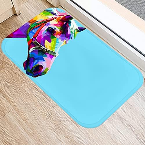 OPLJ Alfombrillas con diseño de Caballos, Alfombrillas para Puertas de Entrada a la Cocina, Alfombrillas para Interiores, alfombras Antideslizantes de Color A17 40x60cm