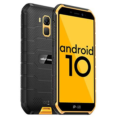 Ulefone Armor X7 PRO(2020) Android 10 Rugged Phones、13MP+5MP防水カメラ、IP68スマートフォン、NFC、OTG、4G Dual Sim、5.0インチ画面、4G RAM 32GB ROM、4000mAhバッテリー、GPS、Bluetooth、WIFI-オレンジ