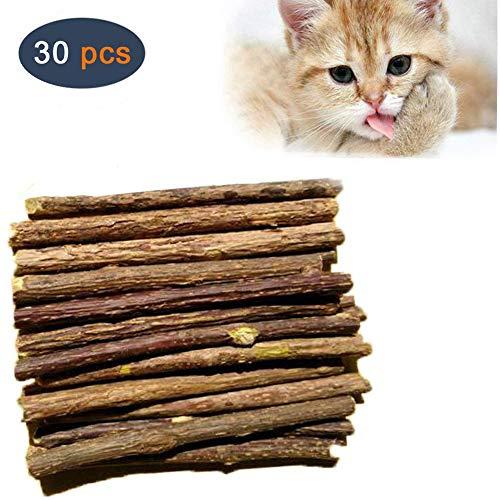 5Pcs Pet Cat Kitten Chew Stick Treat Toy Natural Matatabi Catnip Molar Food DEN