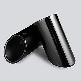 DSYCAR Chrome Plating Stainless Steel Car Exhaust Muffler Tip Pipes Cover for VW Volkswagen JETTA 2009-2018 / SAGITAR 2011-2015 / POLO 2012-2014 / GOLF 7 2013-2015 (Black)
