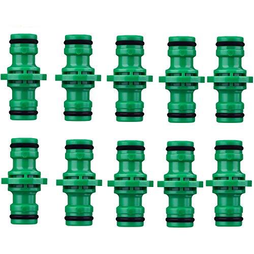 COSORO 10 Pack Double Connecteurs de Tuyaux Mles Raccords de TuyauxTuyau Mâle Extender 1/2\