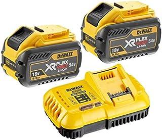 DEWALT 2 x DCB547 18v / 54v XR FLEXVOLT 9.0ah batería + DCB118 cargador rápido, 18V, amarillo