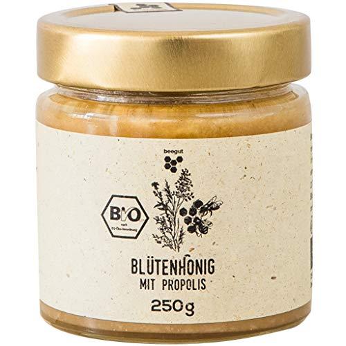 beegut Propolis bio dans le miel, 250 g avec propolis brutes de l'apiculteur biologique d'Allemagne, emballage durable.