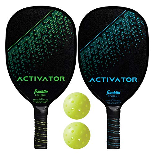 Franklin Sports Pickleball Paddle and Ball Set - Wooden - Activator - 2 Player - USAPA Approved