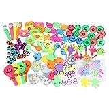 Yeeyf 100 juguetes pequeños para bolsa de fiesta, surtido de juguetes para fiestas de cumpleaños, regalos de carnaval, caja de premios de regalo, recompensas para el aula y el mejor regalo