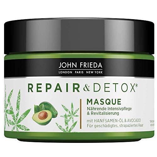 John Frieda Repair & Detox* Maske/Kur - Mit Hanfsamen-Öl + nährender Avocado - Für Strapaziertes Haar (1x 250 ml)
