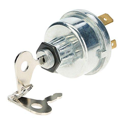Llave de encendido, interruptor universal con 2 llaves para coche, tractor, remolque, 4 posiciones, encendido y apagado de calentador, arranque