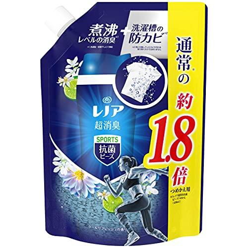スマートマットライト レノア 本格消臭+ 抗菌ビーズ スポーツ クールリフレッシュ 詰め替え 約1.8倍(760mL)