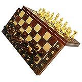 Juego De Ajedrez - Juego De Ajedrez 3 En 1 De Damas Y Backgammon, Juego De Ajedrez De Madera Magnética Con Almacenamiento, Juego De Tablero De Ajedrez Plegable Portátil De Viaje Para Niños Y Adultos